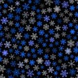 Configuration sans joint des flocons de neige Image libre de droits