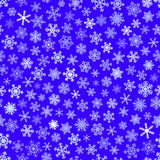 Configuration sans joint des flocons de neige Photographie stock libre de droits