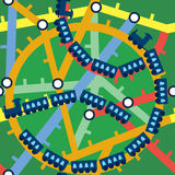 Configuration sans joint drôle de trains Image stock