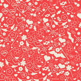 Configuration sans joint du jour de Valentine illustration de vecteur