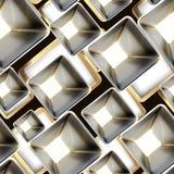 Configuration sans joint en métal abstrait Image stock