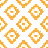Configuration sans joint ethnique de vecteur De géométrique simple chancelant tribal illustration libre de droits