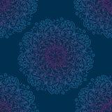 Configuration sans joint ethnique Mandala oriental abstrait pour le papier peint, textile, tissu, papier, fond de site Web, livre illustration libre de droits