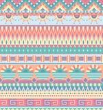 Configuration sans joint ethnique Ornement tribal géométrique Style folklorique Fond abstrait coloré Photographie stock libre de droits