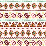 Configuration sans joint ethnique Texture aztèque de vecteur Photos stock