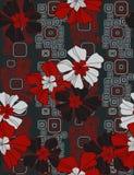 Configuration sans joint florale élégante Images libres de droits