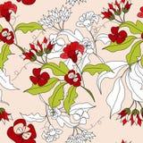 Configuration sans joint florale Photographie stock