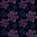 Configuration sans joint florale Photo libre de droits