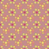 Configuration sans joint florale Photo stock