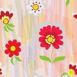 Configuration sans joint florale abstraite de vecteur Photographie stock libre de droits