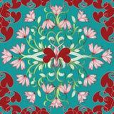 Configuration sans joint florale Backgro léger de vecteur de flourish de turquoise illustration de vecteur