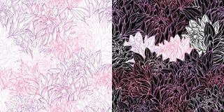 Configuration sans joint florale dans le rétro type Photographie stock