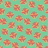 Configuration sans joint florale de cru Fond sans fin coloré avec des fleurs Images libres de droits
