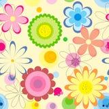 Configuration sans joint florale Fleurs colorées sur le fond clair Illustration Libre de Droits