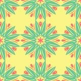 Configuration sans joint florale Fond coloré lumineux Photographie stock libre de droits