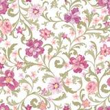 Configuration sans joint florale Fond de fleur Épanouissez-vous la nature GA illustration stock