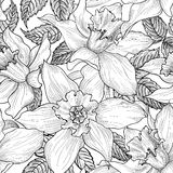 Configuration sans joint florale Fond de fleur Floral gravé Photographie stock libre de droits