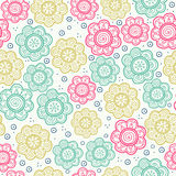 Configuration sans joint florale Illustration de vecteur Fond La texture sans fin peut être employée pour imprimer sur le tissu e Photo libre de droits