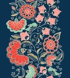 Configuration sans joint florale L'illustration colorée de papier peint de fond avec des fleurs d'été de vintage part et des orne Image stock