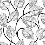 Configuration sans joint florale Laisse le fond Épanouissez-vous la feuille de jardin illustration libre de droits