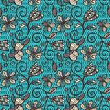 Configuration sans joint florale Mandalas ethniques colorés dans des couleurs brunes, beiges et bleues Ornement de vecteur d'arab Illustration de Vecteur