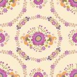 Configuration sans joint florale mignonne Images libres de droits