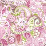 Configuration sans joint florale rose Papier peint floral Images libres de droits