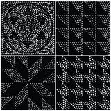Configuration sans joint géométrique abstraite de vecteur Répétition de la gradation Photos libres de droits