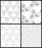 Configuration sans joint géométrique abstraite de vecteur Répétition de la gradation Image libre de droits