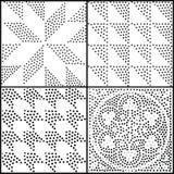 Configuration sans joint géométrique abstraite de vecteur Répétition de la gradation Image stock