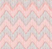 Configuration sans joint géométrique abstraite Ligne de zigzag de griffonnage de tissu Images libres de droits