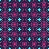 Configuration sans joint géométrique abstraite Modèle rose de style avec le cercle et la ligne Photographie stock