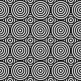 Configuration sans joint géométrique abstraite Ornement différent de cercles Images stock