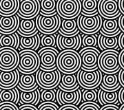 Configuration sans joint géométrique abstraite Ornement différent de cercles Photographie stock