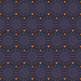 Configuration sans joint géométrique abstraite Tapotement pourpre et orange de style Photo libre de droits
