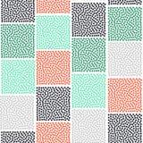 Configuration sans joint géométrique abstraite Texture moderne Fond géométrique coloré Photographie stock libre de droits
