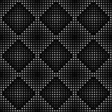 Configuration sans joint géométrique de vecteur Répétition de la gradation carrée abstraite dans noir et gris Photographie stock