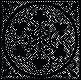 Configuration sans joint géométrique de vecteur Répétition des points abstraits Photographie stock libre de droits