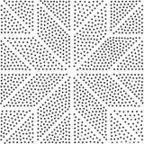 Configuration sans joint géométrique de vecteur Répétition des points abstraits Photos libres de droits