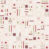 configuration sans joint géométrique Formez une triangle, une ligne, une ligne onduleuse, une courbe, une croix, un cercle Style  illustration de vecteur