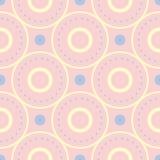 configuration sans joint géométrique Pâlissez - le fond rose avec les éléments bleus et beiges Photographie stock