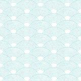 Configuration sans joint onde Texture d'échelles de poissons Illustration de vecteur Album, papier d'emballage cadeau, textiles illustration stock