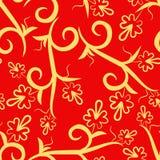 Configuration sans joint rouge florale Photos stock