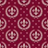Configuration sans joint royale rouge de textile Images stock