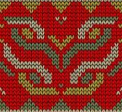 Configuration sans joint tricotée rétro par Noël Image libre de droits