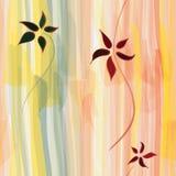Configuration sans joint verticale rayée florale grunge Images stock