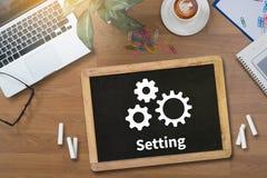 Configuration Setup Tools Setup and  wheel mechanism Setting Con Royalty Free Stock Photography