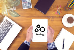 Configuration Setup Tools Setup and  wheel mechanism Setting Con Royalty Free Stock Images