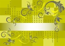 Configuration sur un fond vert. Banner.Background. Photo libre de droits