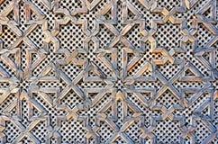 Configuration sur une porte en bois Images libres de droits
